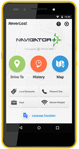 NeverLost Navigator+ - Thrifty Car Rental